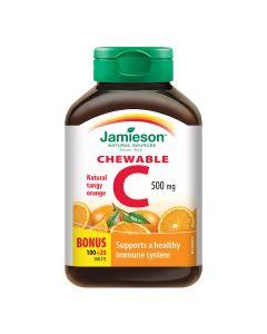 JAMIESON VITAMIN C 500mg tbl. za žvakanje s okusom naranče