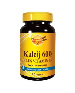 Natural Wealth Kalcij 600 + VITAMIN D