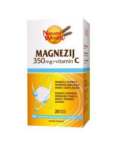 Natural Wealth MAGNEZIJ 350 mg + VITAMIN C šumeće tablete
