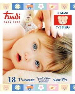 Trudi Pelene Dry Fit, Maxi 7-18 kg, 18 komada