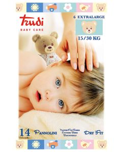 Trudi Pelene Dry Fit, Extra Large 15-30 kg, 14 komada