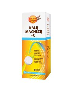 Natural Wealth Kalij Magnezij + C 10 šumećih tableta