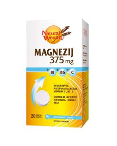 Natural Wealth Magnezij 375 mg + B1+B6+C