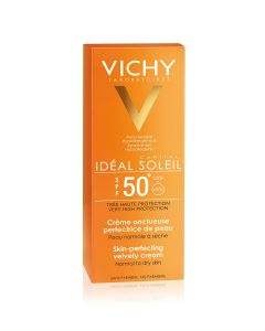 Vichy Ideal Soleil baršunasta krema za ljepši izgled kože SPF 50+
