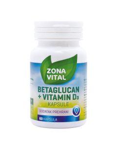 Zona Vital Betaglucan + vitamin D3 60 kapsula