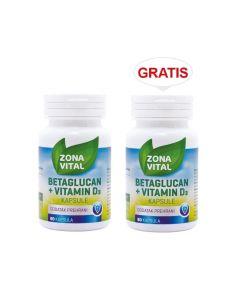Zona Vital Betaglucan + vitamin D3 1+1 GRATIS