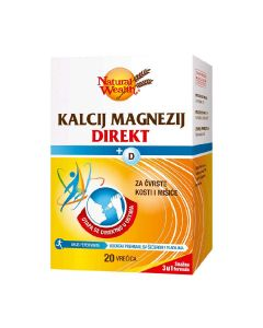 Natural Wealth Kalcij Magnezij Direkt + D