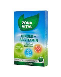 Zona Vital Ginger + B6 vitamin tablete za žvakanje