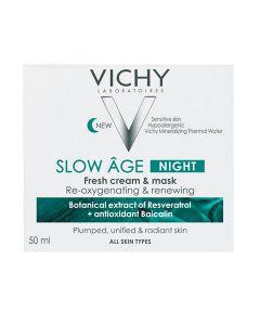 Vichy Slow Age noćna krema i maska koja kožu obogaćuje kisikom