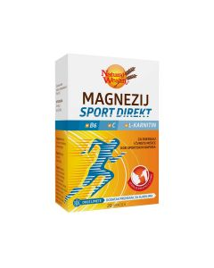 Natural Wealth Magnezij Sport Direkt + B6 + C + L-Karnitin