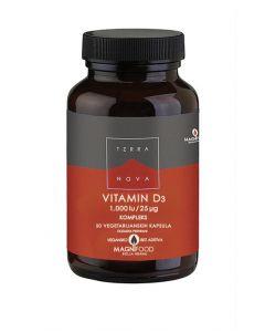 TERRANOVA Vitamin D3 1000 IU (25 µg), kompleks 50 kapsula