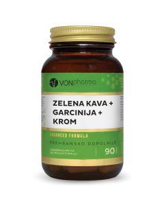 VONpharma ZELENA KAVA + GARCINIJA + KROM 90 kapsula