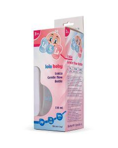 Lo&La Gentle flow bočica plastična 330ml, 3+ Plava