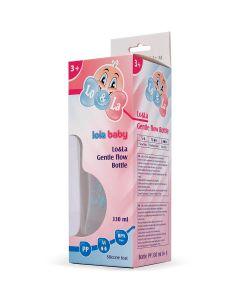 Lo&La Gentle flow bočica plastična 330ml, 3+ Roza