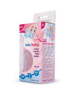 Lo&La Gentle flow bočica plastična 160ml, 0+ Plava