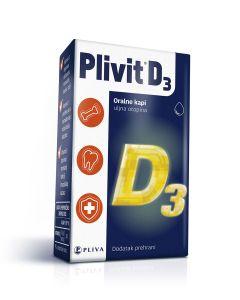 Plivit D3, oralne kapi 5 ml