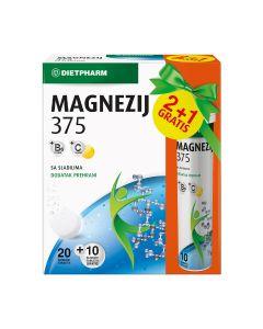Dietpharm Magnezij 375 20 šumećih tableta