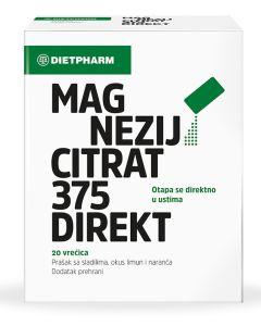 Dietpharm Magnezij citrat 375 direkt prašak 20 vrećica