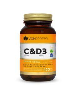 VONpharma vitamin C&D3 120 tableta za žvakanje