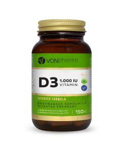 VONpharma vitamin D3 1.000 I.U. 150 kapsula