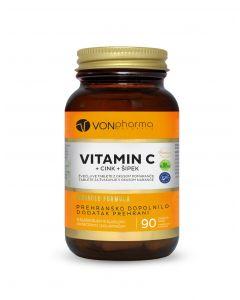 VONpharma vitamin C + cink + šipak 90 tableta za žvakanje
