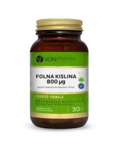 VONpharma FOLNA KISELINA 800 MCG 30 kapsula