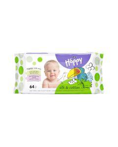 Bella Baby Happy vlažne maramice Silk&Cotton a'64 64 kom