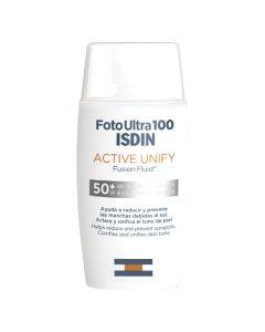 ISDIN Foto Ultra 100  Active Unify SPF 50+ aktivni ujednačavajući fusion fluid za lice 50 ml