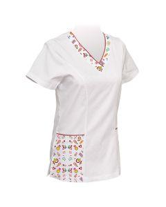 Ženska bluza sa tiskanim detaljom 1 kom