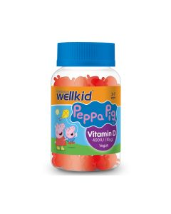 Wellkid Peppa Pig Vitamin D 30 žele tableta