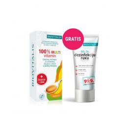 Biovitalis 100% Multivitamin + gel za dezinfekciju ruku GRATIS