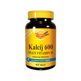 Natural Wealth Kalcij 600 + VITAMIN D