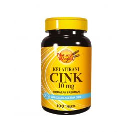 Natural Wealth Kelatirani Cink 10 mg