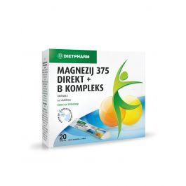 Dietpharm Magnezij 375 direkt + B kompleks
