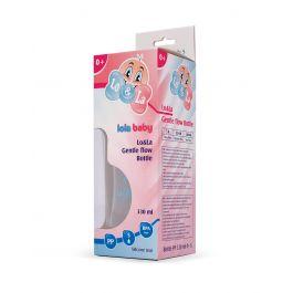 Lo&La Gentle flow bočica plastična 330ml, 0+ Plava