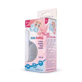 Lo&La Gentle flow bočica plastična 160ml, 3+ Roza