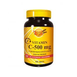 Natural Wealth Vitamin C-500 mg s vremenskim otpuštanjem