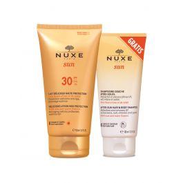 Nuxe Sun mlijeko za sunčanje za lice i tijelo SPF 30, 150 ml + Šampon poslije sunčanja, 100 ml