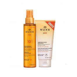 Nuxe ulje za sunčanje i brže tamnjenje za lice i tijelo SPF 10, 150 ml + Šampon poslije sunčanja, 100 ml