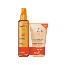 Nuxe ulje za sunčanje i brže tamnjenje za lice i tijelo SPF 30, 150 ml + Osvježavajući losion poslije sunčanja, 50ml